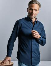Men`s Long Sleeve Tailored Contrast Ultimate Stretch Shirt